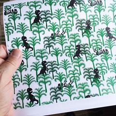 Good old days (Don Moyer) Tags: pattern dinosaur tree forest notebook moyer donmoyer brushpen trex
