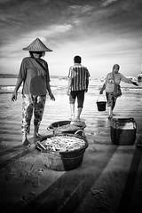 indonesia - bali (peo pea) Tags: ben bn bw bianconero blackandwhite portrait portraits jimbaran bali indonesia beach sunrise alba fish market fisherman boat barche pesce