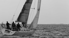 Rakam at Helsinki-Tallinna Race (Antti Tassberg) Tags: 2016 bw blackandwhite helsinki htr meri monochrome purjehdus purjevene race rakam regatta sailing sailingboat sea tallinna yacht