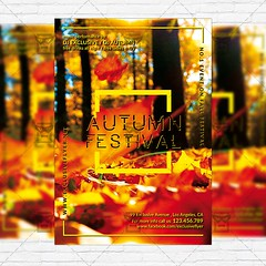Autumn  Premium Flyer Template + Instagram Size Flyer (ExclusiveFlyer) Tags: autumn autumnflyer autumninvitation autumnparty bash brown club dance event fall fallfestival