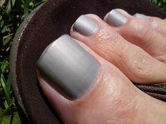 Gray matte with silver tips (toepaintguy) Tags: male guy men man masculine boy nail nails fingernail fingernails toenail toenails toe foot feet sandal sandals polish lacquer gloss glossy shine shiny sexy fun daring allure gorgeous glitter gray silver tips purple