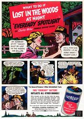 1948 Eveready Spotlight ad (Tom Simpson) Tags: eveready flashlight vintage electronics ad ads advertising vintagead vintageads 1948 1940s
