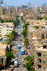 A Street In Egypt (Nabil EL-shimy) Tags: street life style old country egypt buildings city trees high ground skyscape