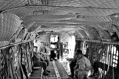 PandP_011 (TheRealDoubleA) Tags: military helicopter black white interior detail