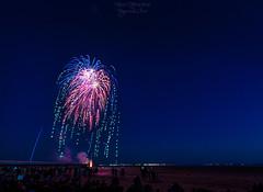 Fireworks at Bassin d'Arcachon 1 ((Virginie Le Carr)) Tags: nuit night feuxdartifice feuxartifice show fireworks lumire light color coloful colors couleurs extrieur outside bassindarcachon 14juillet ftenationale ponton pontoon