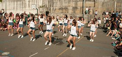 cute dancers (Oneras) Tags: legs school dance pretty teens shorts cute cheerleaders girls movement baile feet jailbait