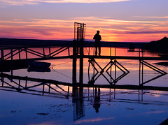 The last day of summer (Jon Jonny Moore) Tags: weymouth dorset uk sunset chesil beach explore holiday summer sunse tones trip silhouette mar sun light water shore reflections