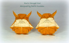 Dollar Bill: Rui's Horned Owl. A Barth Dunkan design (Thomas Krapf Origami) Tags: owl eule bird vogl origami paper paperfolding papier papierfalten rui roda barth dunkan art