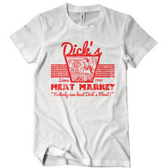 DICK'S MEAT MARKET T-SHIRT Funny Humor TEE RETRO Offensive Rude Not Eating Meat (couponrainbow) Tags: dicks eating funny humor market meat offensive retro rude tshirt