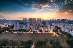 Vista Dreams (Ashley Matthew Teo) Tags: singapore urban twilight sunset sun glow light epic dynamic dramatic hdr dri cityscape city buona vista housing estates lee filters 09 gnd soft nikon d500
