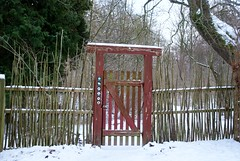 Gate to the forest (osto) Tags: winter snow denmark europa europe sony zealand dslr scandinavia danmark a300 sjlland  osto december2012 alpha300 osto