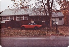 THE MGB IN THE FRONTYARD (richie 59) Tags: autumn trees houses usa house cars film car america 35mm outside us wooden 1982 automobile unitedstates antiquecar convertible mg vehicles 35mmfilm vehicle newyorkstate oldpictures oldcar sideview woodenhouse frontyard 1980s oldcars oldpicture automobiles woodenbuilding olddays convertibles nystate mgb redcar britishcars hudsonvalley britishcar britishleyland antiquecars britishsportscar 2door motorvehicles europeancars stremy ulstercounty redcars twodoor motorvehicle europeancar midhudsonvalley ulstercountyny 1970scars 1970scar oct1982 mgconvertible picturescan stremyny townofesopus 1975mg richie59 1975mgb oct311982 townofesopusny britishconvertible old35mmpictures