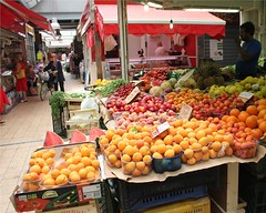 Mercato Trionfale, Rome - Fruit Stand (Ron Phillips Travel) Tags: italy vatican rome fruit market indoor oranges mercato largest trionfale ronphillipstravel