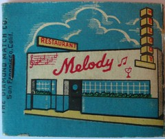 MELODY LOUNGE VALLEJO CALIF (REAR) (ussiwojima) Tags: california bar advertising restaurant lounge cocktail vallejo matchbook matchcover melodylounge melodyrestaurant
