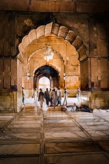 Jama Masjid (tombarnes20008) Tags: morning sun india worship delhi august mosque newdelhi jamamasjid 2011 1628 meenabazar leicam8 chitlaqaber