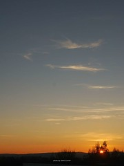 Setting sun (James Raynard) Tags: trees winter sunset cloud sun nature outdoors nikon outdoor dusk wideangle hills setting cirrus d80
