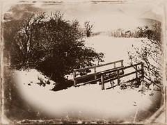 Marehay (Hilary bornagain1198) Tags: bridge trees winter snow god creation anture winter2010 marehay photoshoppicmonkey