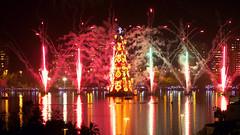 FELIZ NATAL! / MERRY CHRISTMAS! (Leonardo Martins) Tags: christmas light lake reflection luz natal night firework noite lagoa lagoarodrigodefreitas reflexo 2012 fogos espetáculo espelhodágua àrvoredenataldalagoa