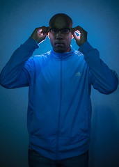 Blue Moon (Richard Pommérat) Tags: light portrait one nikon flash 700 sb cls d600 strobist 50mm18g alhouss