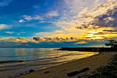 #DSC_0486 - The Melawai (crimsonbelt) Tags: sunset sea beach clouds indonesia balikpapan melawai