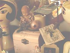 Bungalone Ranger's Better-Late-Than-Never Vintage Home Tour (BungaLone Ranger) Tags: california santa snowflake christmas home vintage easter reindeer toy cozy snowman ebay cookie handmade antique auction crafts salt kitsch valentine retro collection nostalgia souvenir babydoll decor seashore fleamarket bungalow oldfashioned toothbrushholder kewpie anthropomorphic stoves headvase vintagechristmas celluloid stangl shabbychic maryengelbreit shinybrite victoriamagazine shinybright vintagemermaid potteryroseville shaffordcats tilso brushtrees peppervintage printsvintage atkinsonfoxprints marygoldprints gilnerelves gilnerpixies catsamerican bisquedeforest californiamccoy potteryhull potteryabingdon potteryshawnee potteryholt howardwall pocketsfloral printsmother printsship jarsvintage