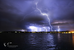 Lightning Storm (Rohan Anderson Photography) Tags: park lake storm water canon point photography australia anderson 5d lightning strikes f28 rohan mkiii mk3 1635mm speers
