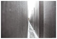 Joods monument Berlijn (aNNaj) Tags: snow rain sneeuw raindrops regen duitsland kerst berlijn regendruppels joodsmonument wwwannekehooijernl