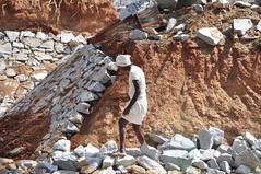 Construction Worker (Victoria Lea B) Tags: india work construction barefeet worker turban karnataka mysore constructionworker mysorezoo