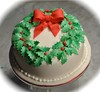 Holly wreath Christmas cake (Cakes by Sonja) Tags: christmascake richfruitcake hollywreath cakesbysonja