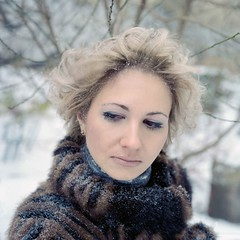 Snowy... (Zhanna_Minina) Tags: camera city winter light portrait white snow color colour cute sexy eye art 120 film girl beauty look fashion closeup youth analog hair square fur geotagged fun photography model eyes branch natural wind kodak russia bokeh grain young makeup lips 66 clothes bronica 400 squareformat porta medium format curl middle russian eyebrows tender sqa pellicule stpeterburg zenzanon