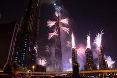 Fireworks in Dubai (sherif khattab) Tags: dubai fireworks 2012 newyearcelebration nighshots newyearsev burjkhalifa