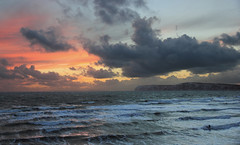 Sunset at Compton Beach, Isle of Wight (BuzzleCup) Tags: sunset surfer isleofwight wight westwight