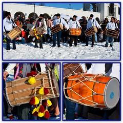 Pre-Dip drum players (shireye) Tags: toronto drums photo nikon walks habitatforhumanity tradition lakeontario sunnyside polarbeardip d7000 torontophotowalks topwhd3