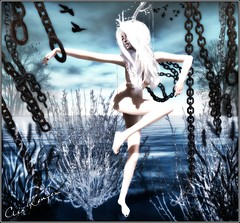 The One (Clix Renfew ) Tags: water beautiful del digital reflections pose dark model erotic photographer shadows avatar may dramatic fantasy secondlife wasabi sensuality picturesque moods clix slink laqroki delmay trasognoerealta clixrenfew creativeimageryphotography