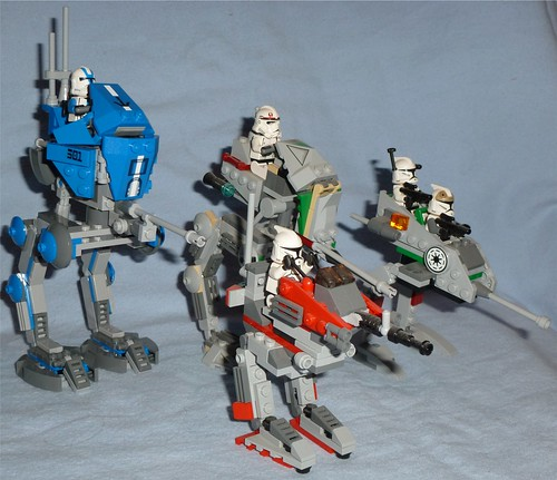 lego star wars at-rt comparison - a photo on flickriver