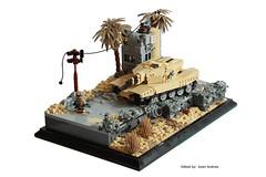 At the Edge of the Future Main (✠Andreas) Tags: tank lego military diorama ustank legotank thepurge legombt thepurgetank thepurgeusa legousatank usmbt thepurgeustank