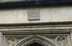 1563 Ab Alto (Dun.can) Tags: london church fromabove latin stmary guesswherelondon inscription stokenewington n16 tracery 1563 gwl stokenewingtonoldchurch 1563abalto abalto