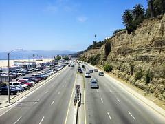 Cali Life (jry0sh) Tags: ocean travel summer vacation cliff sun cars beach cali smog traffic palmtrees pch android vwbus goodlife goodweather