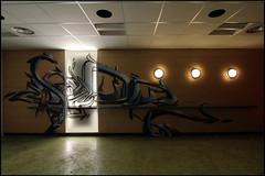 "New kidz on the ""bloc"" : Dja'louz (Chrixcel) Tags: graffiti 3d tag squat graff décoration déco 2ac lebloc tracédirect anartchik djalouz"