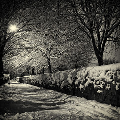 Winter Path (Mad_m4tty) Tags: trees winter snow ice night path yorkshire leeds daily flare challenge starburst odc farsley ourdailychallenge