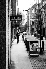 Nickel: Spa For Men (Nick Lambert!) Tags: street blackandwhite bw london fuji spa streetscape nicklambert fujix100 fujinonasphericallens