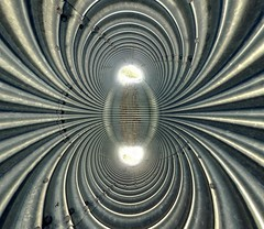 Magnetic Planet (Cristian Marchi) Tags: panorama metal little steel pano small planet polar panini culvert acciaio tombino hugin pianeta metallo varsi