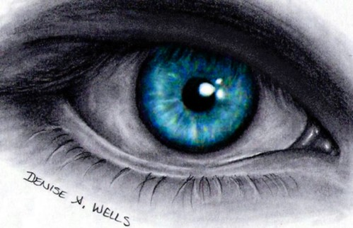 Eyes Blue Drawing Realistic Eye Drawing by