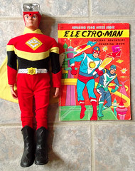 1977 IDEAL ELECTROMAN Figure Electro-Man Coloring Book (gregg_koenig) Tags: old vintage book action space alien figure scifi coloring 70s ideal 1970s 1977 electroman