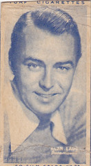"ALAN LADD - 1947 CARRERAS ""turf"" FILM STARS cigarette card (addie65) Tags: handsome 1940s hollywood turf paramount cigarettecard hollywoodland classicactor classicfilm alanladd fanphoto classichollywood fancard deceasedactor"