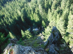 Looking down at the Bat Caves from Oyster Dome