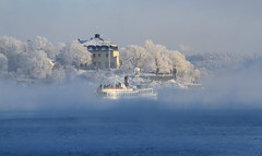 Djurgården in winter (Wild Chroma) Tags: sweden stockholm winter frost ice ferry
