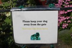 Nervous cat lives here (Davydutchy) Tags: hythe kent uk truk tatra register walk wandeling spaziergang churchhill sign nervous cat dog july 2016