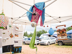 """More dignity, Less Digging"" - festival decor (jencastrotakespictures) Tags: basscoast basscoast2016 gold mining justice art itervention britishcolumbia canada turtleisland nlakapamuxuncededterritory"