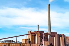 Voimala (Jori Samonen) Tags: hanasaari power plant sompasaari buildings smokestacks sky clouds helsinki finland nikon d3200 350 mm f18 nikond3200 350mmf18